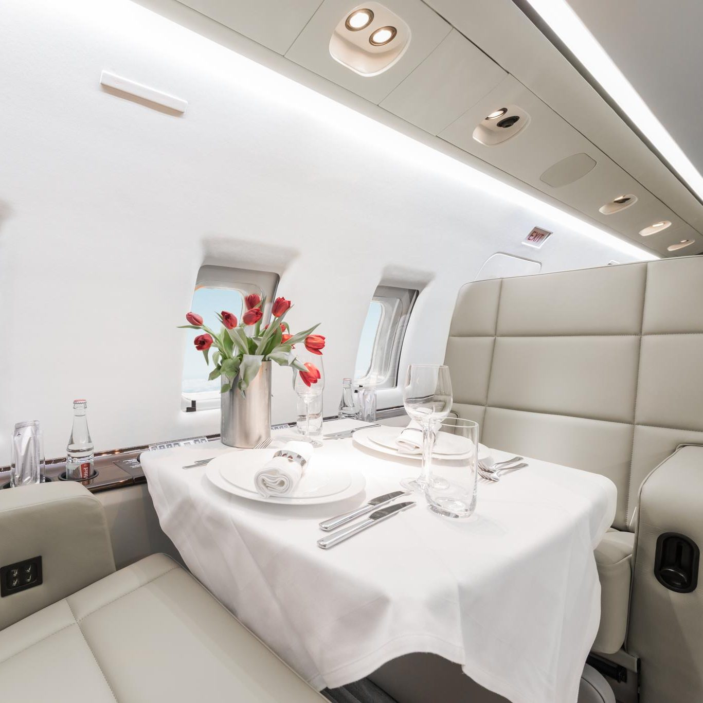 Air Independence Private Jet Interior