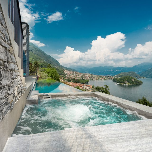 Villa Molli Infinity Pool and Hot Tub with Lakeview